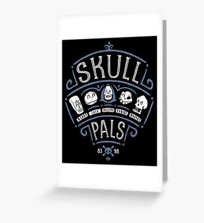 Skull Pals Greeting Card