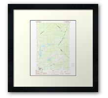 Maine USGS Historical Map St Zacharie North 460925 1989 24000 Framed Print