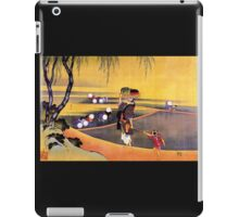 'Rice Fields' by Katsushika Hokusai (Reproduction) iPad Case/Skin