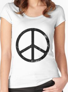 PEACE SIGN Women's Fitted Scoop T-Shirt