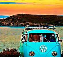 Iconic VW & Sunset. by ScenicViewPics