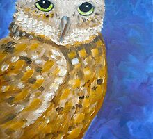 Barn owl, impressionism owl, owl art, home decor wall art by artbykatsy