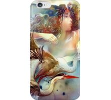 """""""Dancing with Birds"""" - - postcard & greeting card iPhone Case/Skin"""