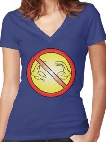 No Flex Zone Women's Fitted V-Neck T-Shirt