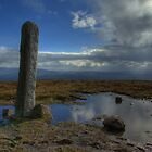 Pillar and Pool on top of Slievenamon (2) by Mark O'Toole