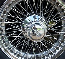 E Type Jaguar spokes/abstract detail by sassygirl