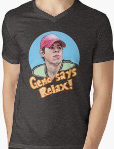 Geno Says Relax Mens V-Neck T-Shirt