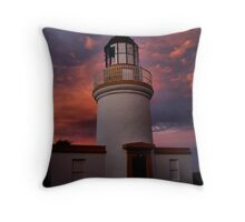 Lighthouse evening Throw Pillow