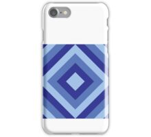 Diamond Stripes - Blues iPhone Case/Skin