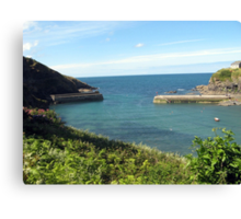 Port Isaac Harbour - North Cornwall / England Canvas Print