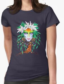 Willow tree. Forest dryad Womens Fitted T-Shirt