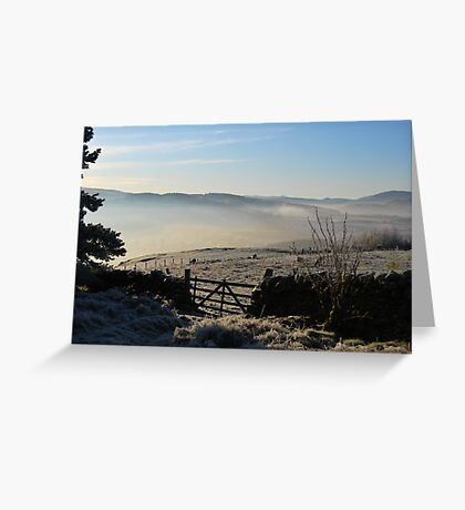 over the gate Greeting Card