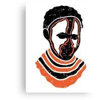 African totem mask Canvas Print