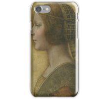 La Bella Principessa - 15th Century - Profile of a Young Fiancee - Leonardo da Vinci iPhone Case/Skin