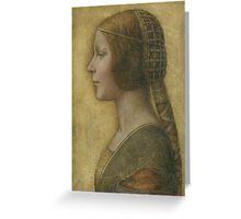 La Bella Principessa - 15th Century - Profile of a Young Fiancee - Leonardo da Vinci Greeting Card