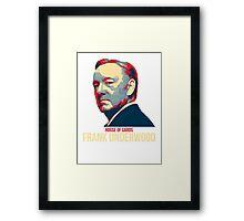 Frank Underwood - House Of Cards Framed Print