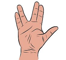 Live Long and Prosper Hand Sign by Rachel Counts