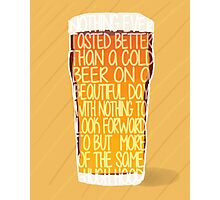 For the love of Beer Word Art Typography Photographic Print