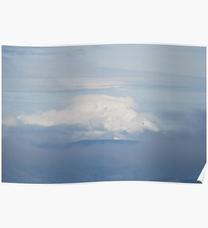 Mt Baker In The Clouds Poster