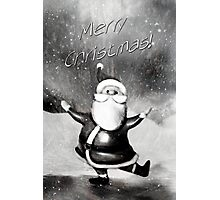 Merry Christmas from Santa Photographic Print