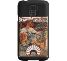 'Biscuits Lefevre-Utile' by Alphonse Mucha (Reproduction) Samsung Galaxy Case/Skin