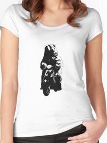 Vespa bear Women's Fitted Scoop T-Shirt