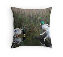 Ducks In the Water Throw Pillow