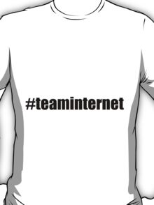 Hashtag Team Internet - Black T-Shirt