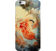 Abstract Red and Blue Painting  iPhone Case/Skin