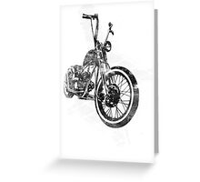 Old School Bobber Motorcycle Greeting Card