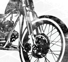 Old School Bobber Motorcycle Sticker