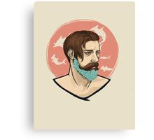 Flower Beard Canvas Print