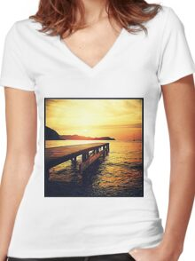 Bagnaia - Elba - Italy Women's Fitted V-Neck T-Shirt