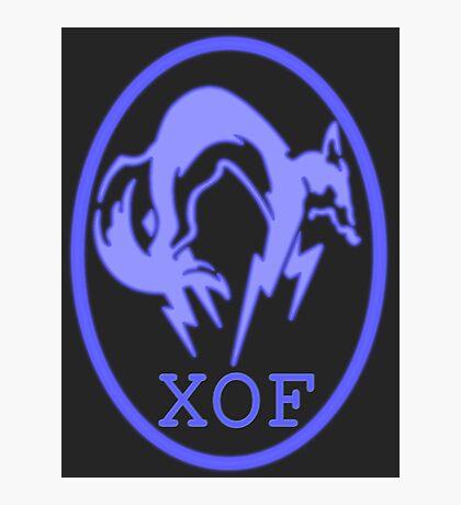 XOF logo- purple Photographic Print