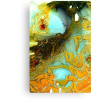 Orange Blue Abstract Print  Canvas Print
