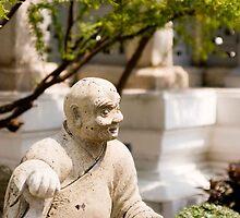 Monk Statue in Wat Po by Cvail73
