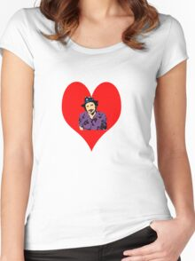 I Love Howard Moon! Women's Fitted Scoop T-Shirt
