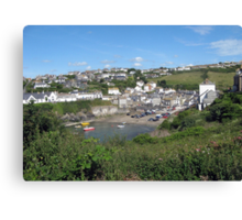 Looking Down On Port Isaac - North Cornwall / England Canvas Print