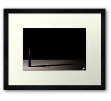 Red Bullet Framed Print