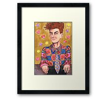 Meanwhile In The 80s Framed Print