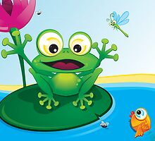 Critterz-Frog-Giggles in the Pond by Kat Massard