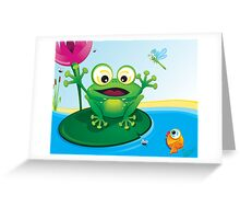 Critterz-Frog-Giggles in the Pond Greeting Card