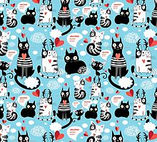 bright pattern cat lovers by Tanor