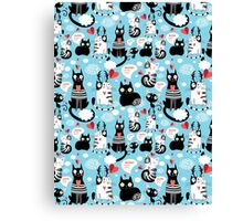 bright pattern cat lovers Canvas Print