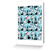bright pattern cat lovers Greeting Card