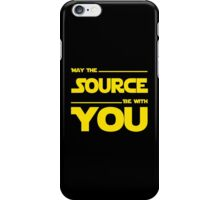 May The Source Be With You - Stars Wars Parody for Programmers iPhone Case/Skin
