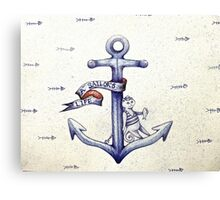 A sailors life for me, cat & anchor  Canvas Print