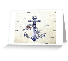 A sailors life for me, cat & anchor  Greeting Card