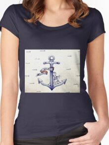 A sailors life for me, cat & anchor  Women's Fitted Scoop T-Shirt