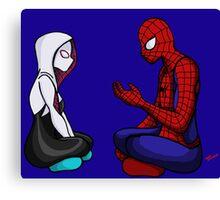Spider-Gwen & Spider-Man Canvas Print